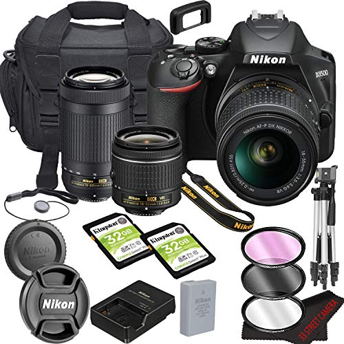 Nikon D3500 DSLR Camera Bundle with 18-55mm VR + 70-300mm Lenses | Built-in Bluetooth |24.2 MP CMOS Sensor | |EXPEED 4…
