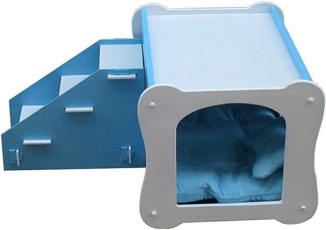 ZPWSNH Escalera para Mascotas Tres Pasos Juguete para Mascotas Casa Doble Pintura de Madera Villa para Mascotas Casa de la Perrera Casa del Gato Escaleras de Mascotas (Color : Pink): Amazon.es: Hogar