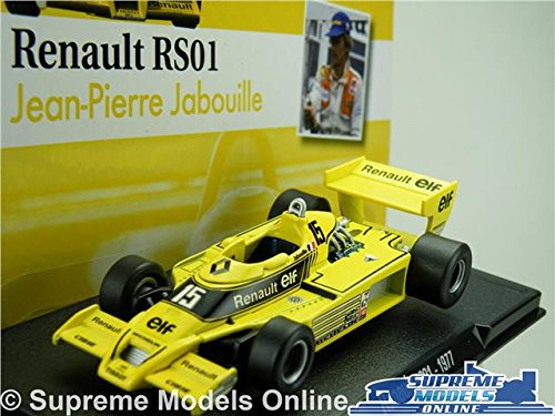 Renault Formula Racing - RENAULT RS01 FORMULA 1 RACING MODEL CAR JEAN PIERRE JABOUILLE 1:43 SCALE ONE K8Q