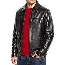 New York Leather Men's New Range Bomber Biker Jacket