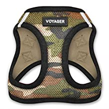 "Voyager Step-In Air Dog Harness - All Weather Mesh, Step In Vest Harness for Small and Medium Dogs by Best Pet Supplies - Army Base, Small (Chest: 14.5"" - 17"")"