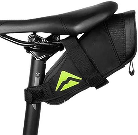 BOLSAS de SillíN de Bicicleta, MontañA SillíN de Bicicleta de Carretera Asiento Trasero Impermeable Accesorios para Equipos de EquitacióN, Negro: Amazon.es: Deportes ...