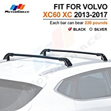Roof Rack Crossbar for VOLVO XC60 XC 2013-2017 Baggage Luggage Rail Cross Bar-Black