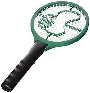 Beper 30.065/GR - Mosquitera en forma de raqueta a pilas, color verde