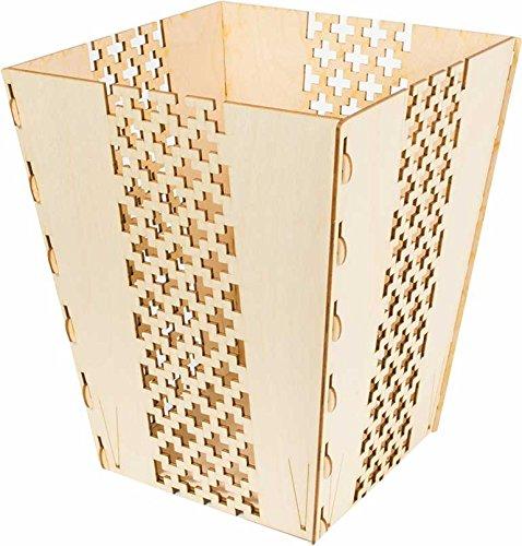 Cardboard Safari Wooden Waste Basket (Brick Screen)