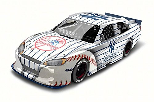 Lionel New York Yankees 2012 Ford Fusion, White w/ Navy Pin Stripes NASCAR - 1/24 Scale Diecast Model Toy Car