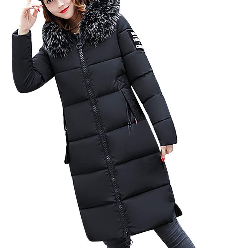 XOWRTE Women's Solid Casual Thicker Long Sleeve Winter Slim Down Lammy Jacket Coat Overcoat