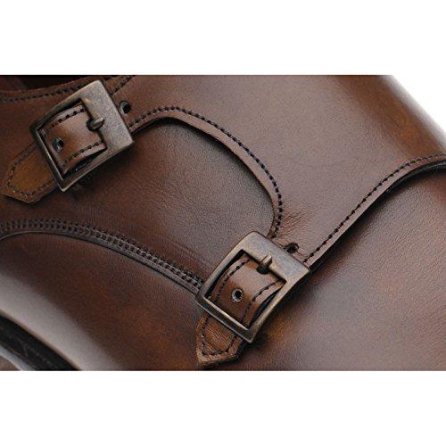 Herring Herring Attlee - brogue de cuero hombre marrón - marrón (mahogany)