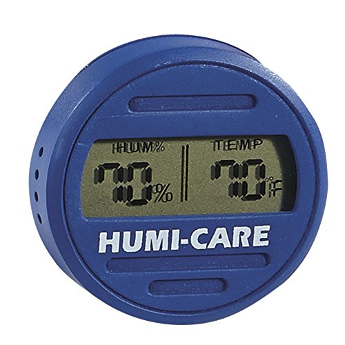 HUMI-CARE Round Digital Hygrometer - Blue