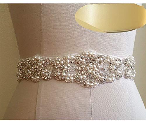 QueenDream iovry Bridal Sash, Rhinestone Sash, Bridal Belt, Wedding Sash, wedding Belt, ribbon, bridal