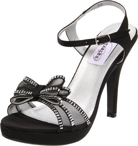 Dyeables Womens Pippa Plattform Sandal Svart Satin