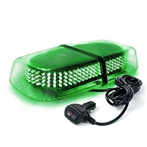 Xprite Green 240 LED Law Enforcement Emergency Hazard Warning Roof Top LED Mini Bar Strobe Light with Magnetic Base
