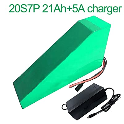 with 5A Charger 72V 21Ah 20S7P Li-ion Battery Electric Two Three Wheeled Motorcycle Bicycle ebike 350305210907050mm: Toys & Games