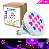 RoLightic LED Grow Lights Bulb, 12W E26/E27, 3 Bands,Plant Lights, Red + Blue for Plants,Hydroponic, Flowers, Fruits,Vegetables, Greenhouse Lighting , Grow Light