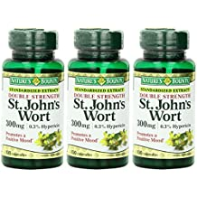 Nature's Bounty St. John's Wort, Double Strength, 300mg, 300 Capsules (3 X 100 Count Bottles)