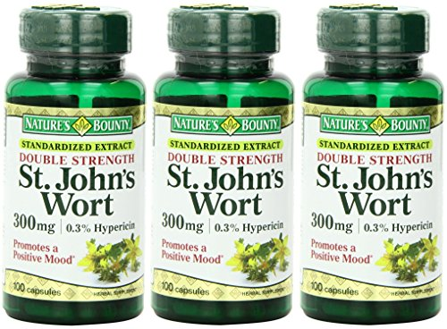 - Nature's Bounty St. John's Wort, Double Strength, 300mg, 300 Capsules (3 X 100 Count Bottles)