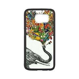 Samsung Galaxy S6 Cell Phone Case White elephant art gqaw