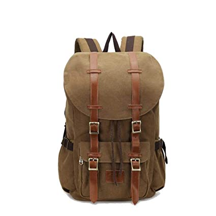 e8af7396e2 AINiubia Canvas Large Backpack Travel Bags for Men Women Vintage Military Style  Backpacks Casual School