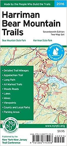 Harriman Bear Mountain Trails Map New York New Jersey Trail