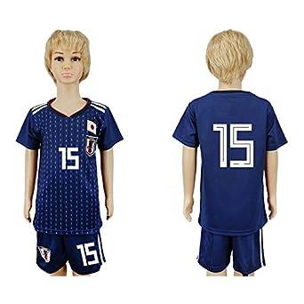 Bobybo 2018 Russia Word Cup Japan Football Team  15 Kids Home Blue Soccer  Jersey - 400c7c8e3