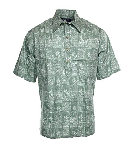 02dd38612 Ono & Company Mens Medium Short-Sleeve Hawaiian Shirt @732 Green M - Buy  Online in Oman. | Apparel Products in Oman - See Prices, Reviews and Free  Delivery ...