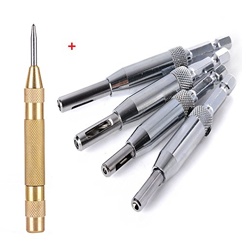 (Eagles 4pcs Self Centering Hinge Drill Bits Set,1/4