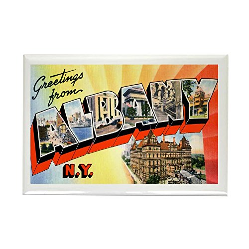 CafePress - Albany New York Greetings Rectangle Magnet - Rectangle Magnet, 2