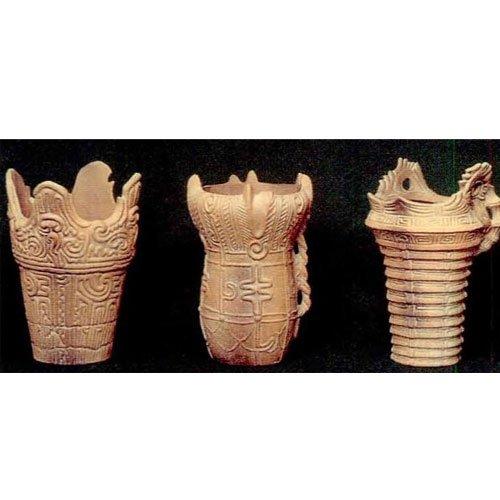 縄文式土器模型 3点セット B01-5036   B00B7D86SM