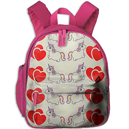Purple Unicorn Love School Casual Daypack For Kids Fashion Printed Bags Student School - Sunglasses With Gif Cat