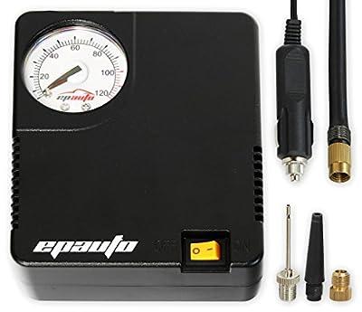 EPAuto 12V DC Auto Portable Air Compressor Pump/Tire Inflator for Compact/Midsize Sedan SUV