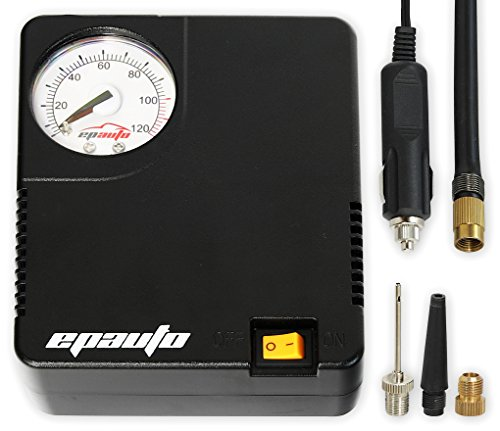 : EPAuto 12V DC Auto Portable Air Compressor Pump / Tire Inflator for Compact / Midsize Sedan SUV