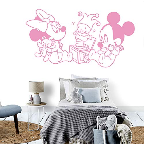 Oisiu Mickey Mouse Wall Sticker Decal DIY Mickey Mouse Wall Sticker Removable Wall Stickers DIY Wallpaper for Kids Rooms Decoration Wall -