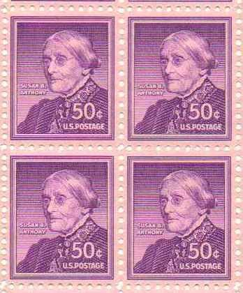 Amazon Susan B Anthony Set Of 4 X 50 Cent Us Postage Stamps
