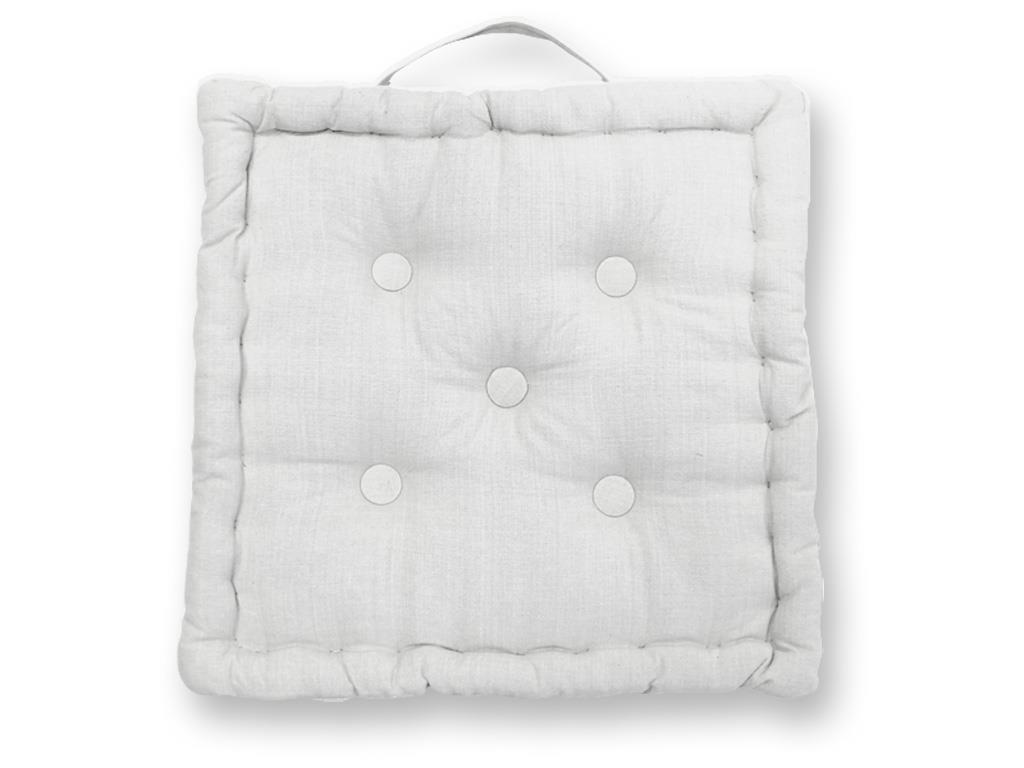 Ecru Soleil docre Dessus de Chaise tapissier en Coton Panama /Ã/©cru 40 x 40 x 8 cm