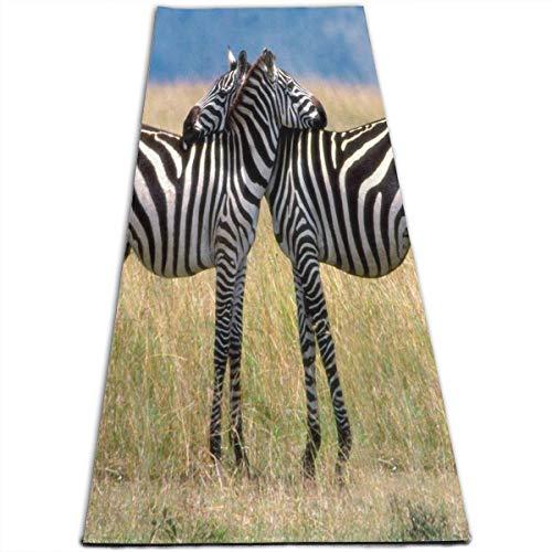 Yoga Mat Zebras Love Fabulous 1/4-Inch Thick Exercise Mats For Pilates, Fitness & - Jaci Apparel