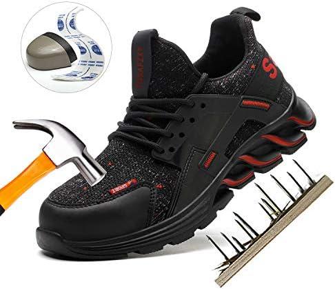 51K7fuBoVzL. AC TOSAFZXY Work Steel Toe Shoes Men Women, Puncture Proof Steel Toe Sneakers,Work Shoes Slip-Resistant Shoes Lightweight Breathable, Industrial & Construction Comfortable    Product Description