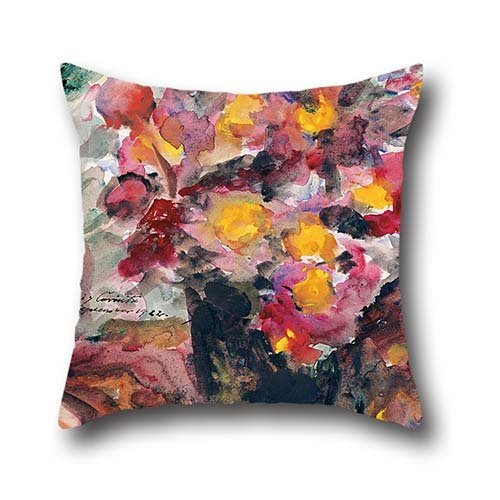 16 X 16 Inches / 40 By 40 Cm Oil Painting Lovis Corinth - Flower Vase On A Table, 1922 Cushion Cases,double Sides Is Fit For Kids,her,dining Room,gril Friend,teens Girls