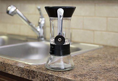 Handground Precision Coffee Grinder: Manual Ceramic Burr Mill - Black
