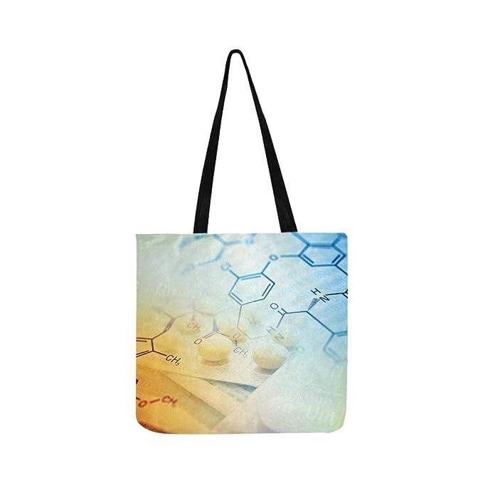 Chemie Wissenschaft Formel Leinwand Tote Handtasche Schultertasche Crossbody Taschen Geldbörsen Für Männer Und Frauen Einkauf