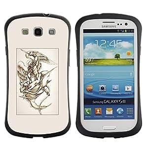 LASTONE PHONE CASE / Suave Silicona Caso Carcasa de Caucho Funda para Samsung Galaxy S3 I9300 / Michael Devil Fight Art