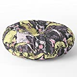Society6 Social French Bulldog Floor Pillow Round 26'' x 26''