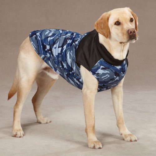 Casual Canine Polyester Camo Dog Vest, X-Large, 24-Inch, Blue