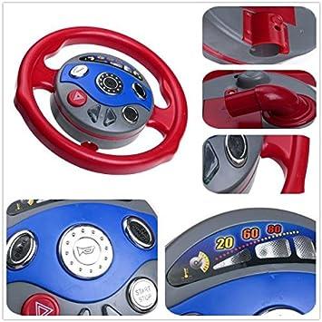 Amazon.com : Kids Back Window Seat Toy Car Steering Wheel Game Horn ...