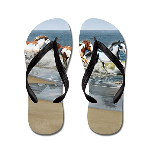 CafePress Pillow_Painted Ocean - Flip Flops, Funny Thong Sandals, Beach Sandals Black