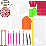 (US) 37 Pieces Diamond Painting Tools 5D DIY Diamond Painting Accessories Diamond Cross Stitch Tool Kits for Adults or Kids by INFELING