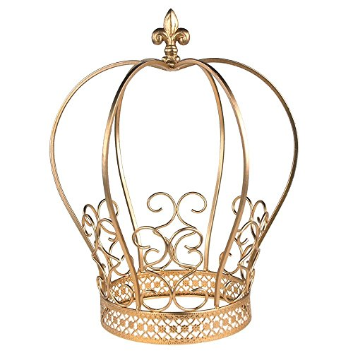 Golden Wire Metal Crown Centerpiece Cake Topper Keepsake -