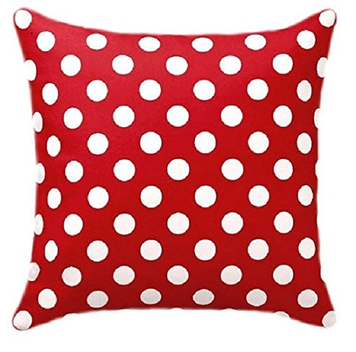 Red and White Polka dots 26