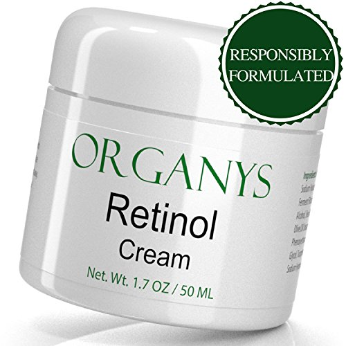 Organys Retinol Cream with Hyaluronic Acid & Aloe Vera. Anti Aging Face & Eye Moisturizer For Wrinkles, Uneven Tone, Fine Lines & Acne Scars. A Natural Best Selling Anti Wrinkle Cream For Day & Night ()