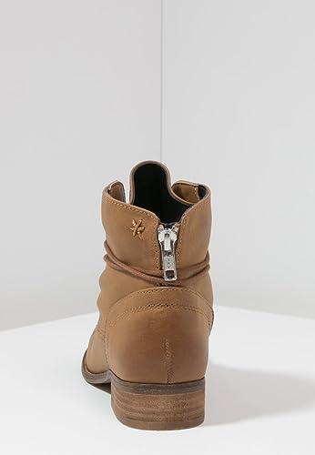 Even&Odd Botines de Mujer - Botas para Mujer Cortas en Negro o Marrón Coñac - Botas con Cordones de Imitación de Cuero – Cómodas y Elegantes Botas ...