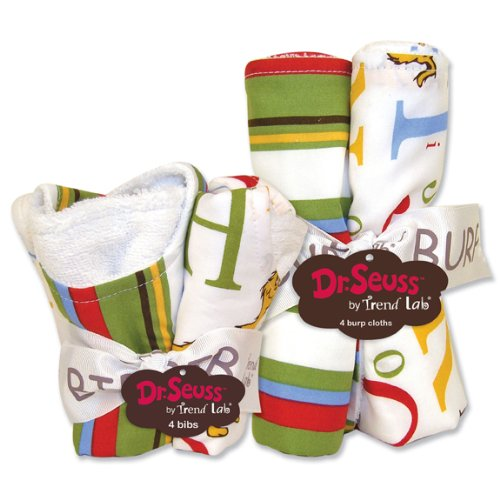 Dr. Seuss ABC Bib & Burp Cloth Set